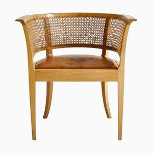 Armchair in Elm & Leather by Kaare Klint Faaborg for Rud Rasmussen, 1970s