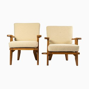 Armchairs from Guillerme and Chambron, Set of 2