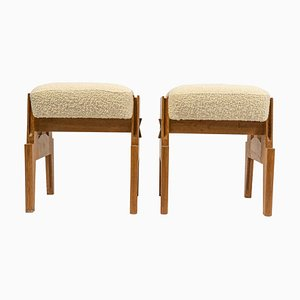 Footrests by Guillerme et Chambron, Set of 2