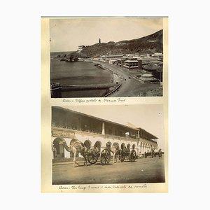 Impressions Albuminées, 1920s / 90s, Ancient Views of Aden, Set de 3