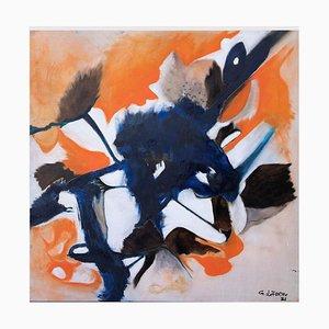Giorgio Lo Fermo, Orange Composition, Oil on Canvas, 2021