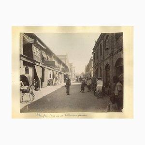 Unknown, Ancient Views of Shanghai, Albumen Prints, 1890er, 2er Set