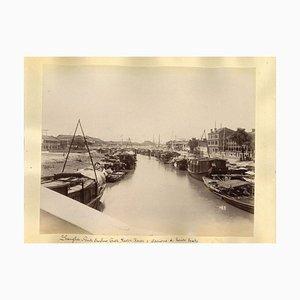 Unknown, Ancient Views of Shanghai, Albumen Prints, 1890s, Set of 2