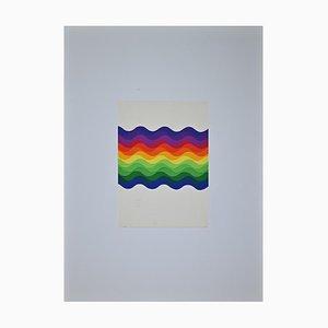 Julio Le Parc, Composition, Coloured Waves, Siebdruck, 1976