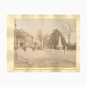 Unknown, Ancient Views of Shanghai, Albumen Druck, 1890er, 2er Set