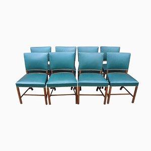 Stühle aus Poliertem Holz von Fritz Hansen, 1930er, 8er Set