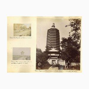 Unknown, Ancient Views of Beijing, Albumen Druck, 1890er, 4er Set