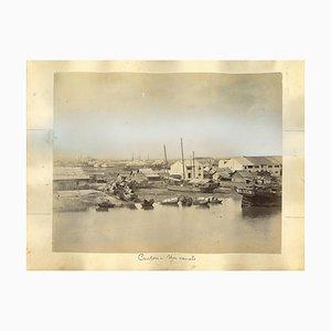 Vues Inconnues de Canton, Estampes Albuminées, 1890s, Set de 2