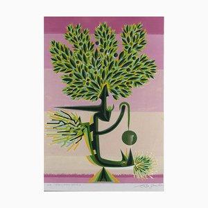 Leo Guida, Temporärer Baum, Radierung, 1995