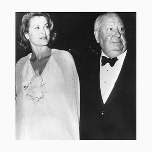 Unknown, Alfred Hitchcock and Grace Kelly, Vintage B/W Photograph, 1970s