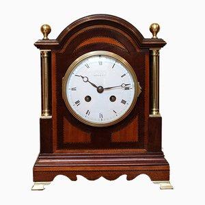 Mahagoni und Seidenholz Kaminsims Uhr von Maple & Co.