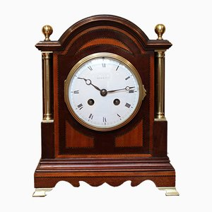Mahogany and Satinwood Mantel Clock from Maple & Co.