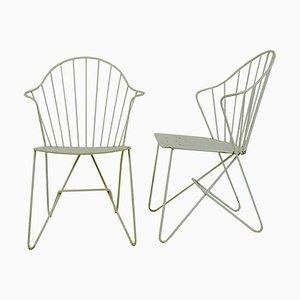White Austrian Wire Sonett Astoria Chairs, Set of 2