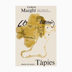 Affiche Expo 82, Encres et Vernis, Antoni Tapies