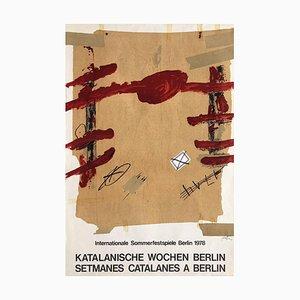 Expo 78 Poster, Setmanes Catalanes a Berlin, Antoni Tàpies