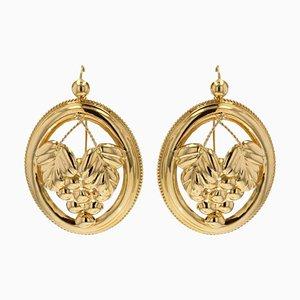 Ohrringe aus 18 Karat Gold Creolen in Gelbgold, 2er Set