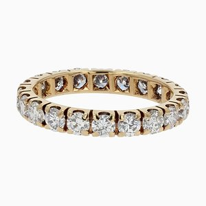 1,50 Carat Cut Diamond and 18 Karat Yellow Gold Wedding Ring