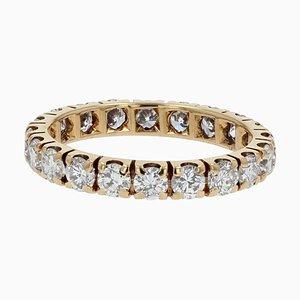 Bague de Mariage Diamant 1,50 Carat Taille en Or Jaune 18 Carat