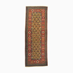 19th Century Yellow Green Red Caucasian Talish Rug