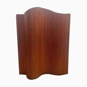 Mid-Century Italian Wooden Folding Screen