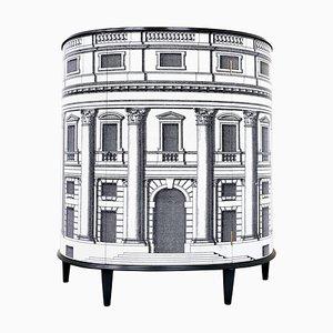 Mid-Century Architectural Scene Italian Cabinet