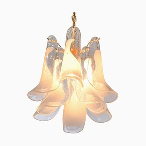 Vintage Murano Glass Petals Gold Plated Chandelier from Novaresi