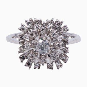 Vintage Ring aus 18 Karat Gold und Diamanten