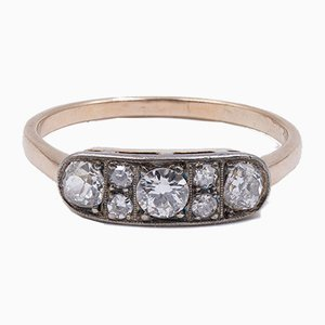 Antique 14K Gold Ring with Diamonds 0.70 Ct, Early 1900s