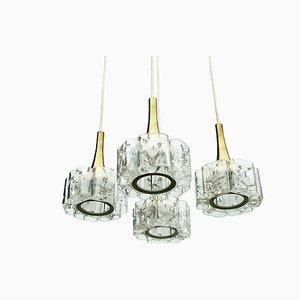 Mid-Century Crystal Glass Cascade Lamp from Doria