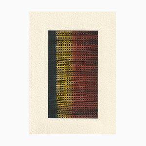 Bauhaus, Patterns, Modernism, 1950s, Acrylique sur Papier