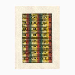 Bauhaus, Muster, Modernismus, 1950er, Acryl auf Papier