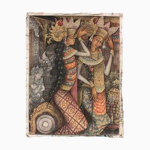 Budiyasa / Ubud Bali, Acrylique sur Toile