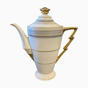 German Art Deco Porcelain Coffee Pot, 1930s