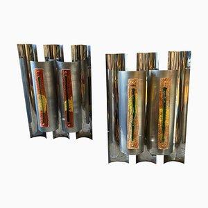 Große Space Age Wandlampen von Angelo Brotto für Esperia, 1970er, 2er Set
