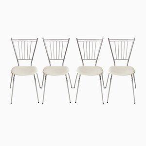 Pariser Vintage Esstisch und Stühle von Tubmenager, 1950er, 5er Set