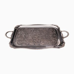 Vintage English Silver-Plated Serving Tray, 1940