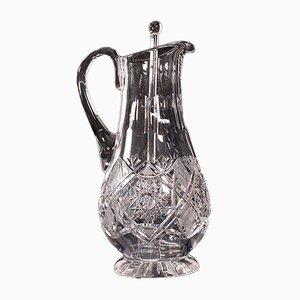 Brocca da portata vintage in vetro inglese, metà XX secolo