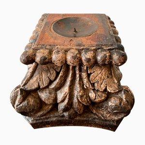 Carved Wood Candleholder