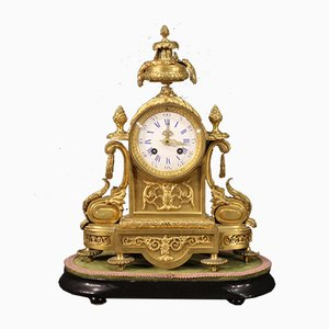 Uhr aus vergoldeter Bronze, 19. Jahrhundert