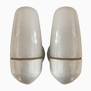 Ceramic Model 6067 Sconces by Wilhelm Wagenfeld for Lindner, 1958, Set of 2