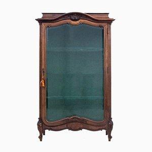 French Walnut Display Cabinet, 1920s