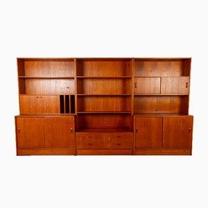 Dänisches Vintage Bücherregal aus Teak von Clausen & Son, 1960er