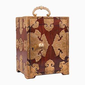 Antique Chinese Rosewood Collectors Box or Decorative Specimen Case, 1920s