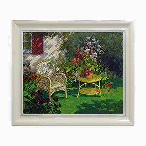 Renato Criscuolo, In the Garden, Oil on Canvas
