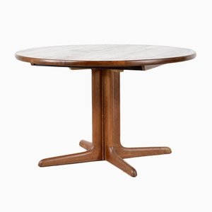 Danish Extendable Round Teak Dining Table from Skovby, 1960s