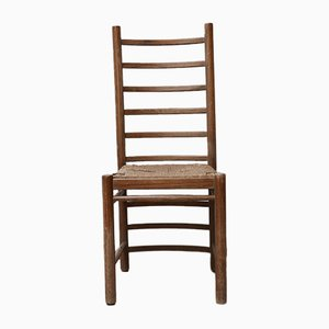 Mid-Century Rush Ladder Back Dining Chairs, Set of 12