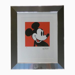 Mickey Mouse Lithograph Numbered in Pencil 3688/5000 by Andy Warhol, Carnegie Museum of Art, 1980