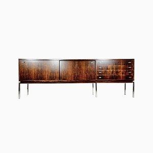 Large Row Rosewood Sideboard, Belgium, 1950s