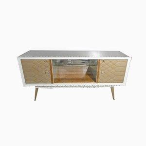 Mobiles Sideboard mit Glasplatte, Italien, 1950er