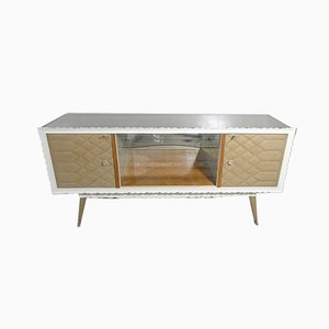 Sideboard Mobile Bar with Glass Top, Italy, 1950s